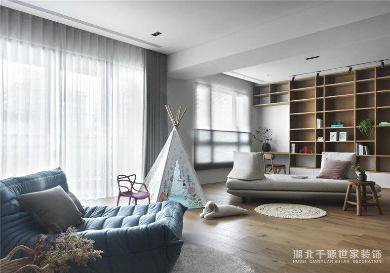 200平方米装修案例丨静下心来读一读,书写本身的居家生活新篇章【宜昌装修】