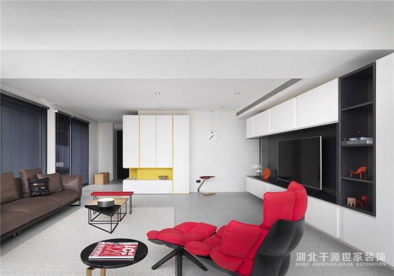 100㎡三房装修案例丨充满现代艺术感的室内设计,新的生活起点【宜昌装修】