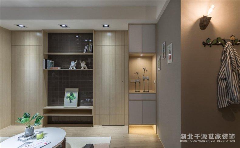 三口小户型装修案例丨厨房、客厅、书房、卧室、卫浴,一个都很多
