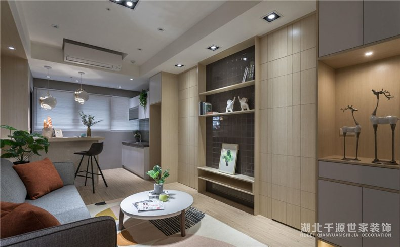 三口小户型装修案例丨厨房、客厅、书房、卧室、卫浴,一个都很多【宜昌装修】