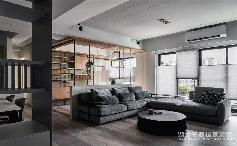 毛坯房家装案例赏析丨冷色系晕染下现代风之家,优雅不累