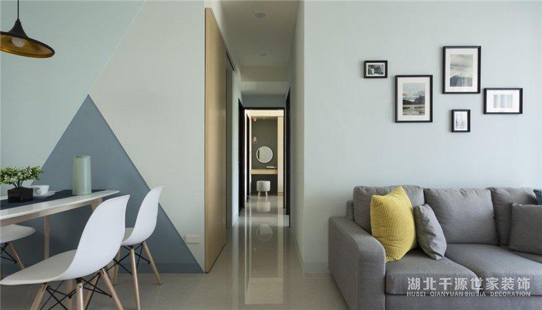 3室2厅样板房丨用北欧风诠释蓝色恋人的家,一个字——舒服!