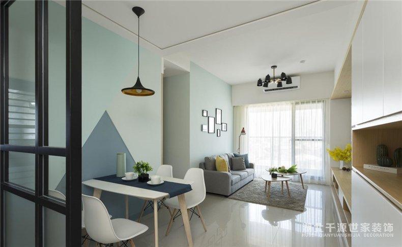 3室2厅样板房丨用北欧风诠释蓝色恋人的家【宜昌装修】