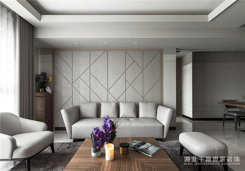 103平米装修效果图丨天然木材的质感,感受岁月的安谧