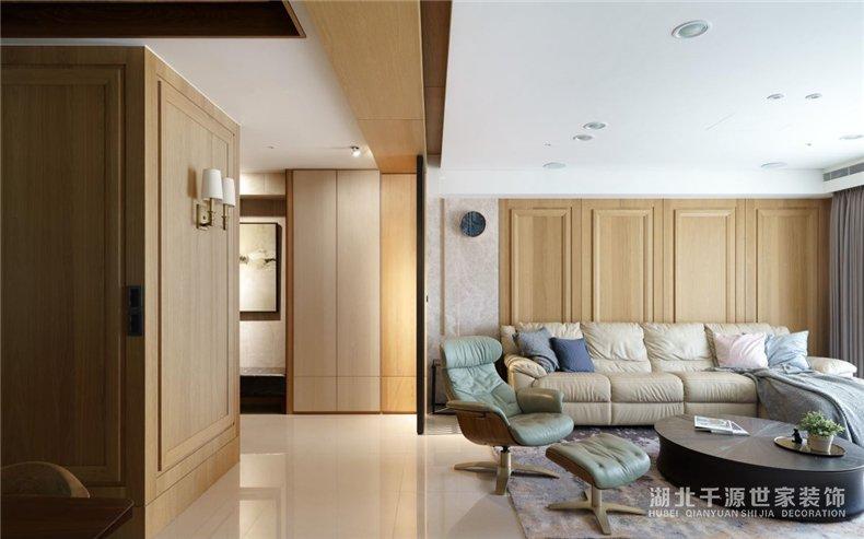 130平方装修方案丨木质感的居家生活,混搭出便捷的双面日常【宜昌装修】