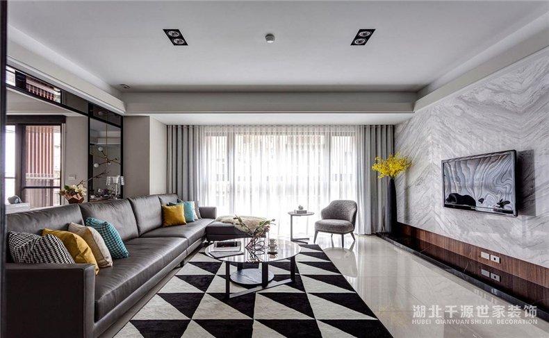 大宅装修设计丨几何元素演绎现代风居家体验【宜昌装修】