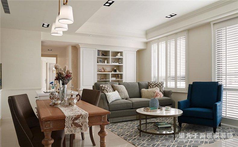 【宜昌装修公司】一室一厅一厨一卫装修案例丨美式风格也可以很清新