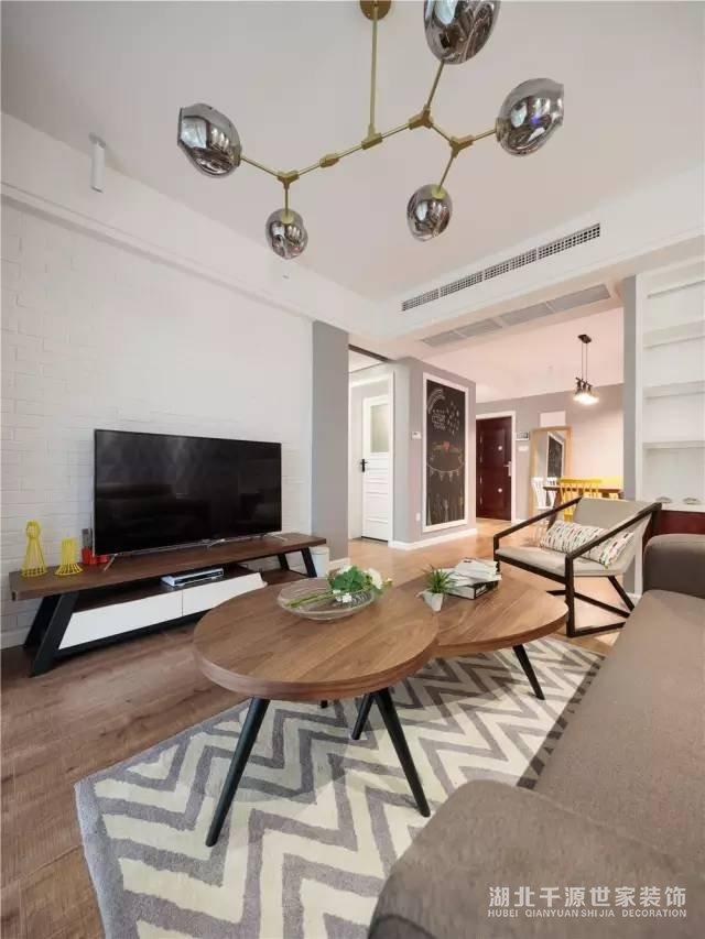 【宜昌卓创装饰公司】88平小户型北欧风格新房装修  装扮完美新居